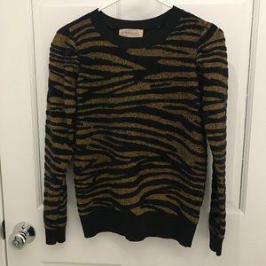 NWOT Philosophy Zebra Print Fuzzy Sweater Size S